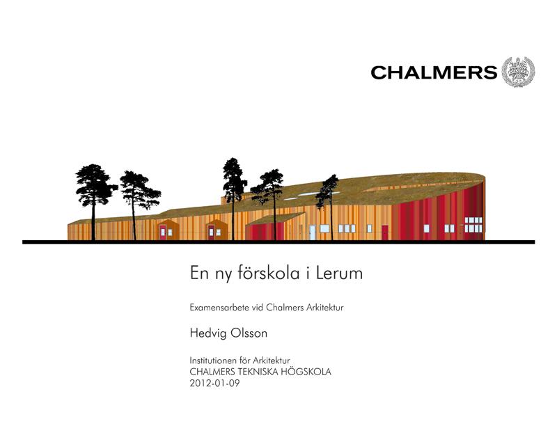 Presentation 2012-01-09 Hedvig Olsson - UTSKRIFT CHALMERS-1